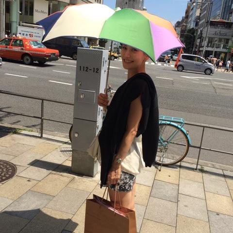亀恭子 日傘